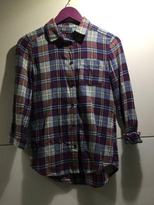 Holzfällerhemd kariert Gr.34/XS blau/rot