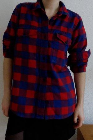 Holzfällerhemd rot-blaues Karomuster Lee