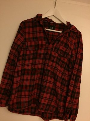 Holzfällerhemd rot/schwarz