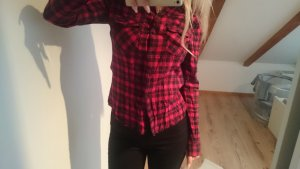 Holzfällerhemd rot schwarz