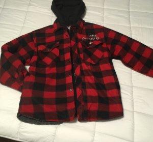 Oversized jack zwart-rood