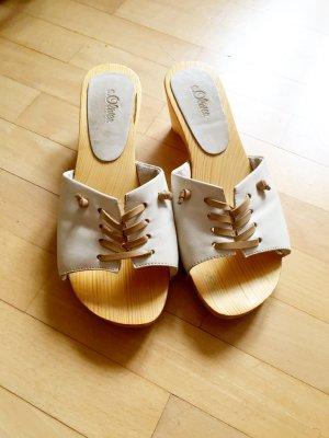 s.Oliver Mule blanc-beige