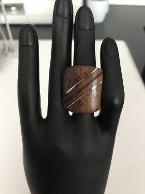 Anillo de cuentas marrón-negro