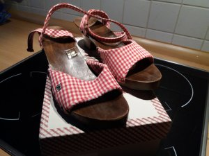 Adelheid Clog Sandals red cotton