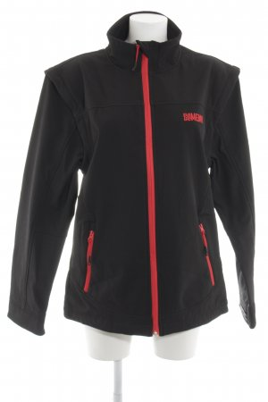 Homeboy Softshell Jacket black-red themed print athletic style