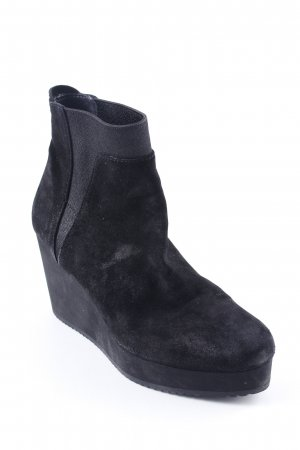 Homers Keil-Stiefeletten schwarz Street-Fashion-Look