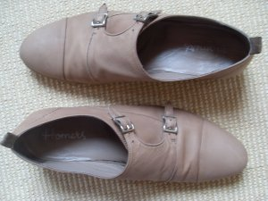 Homers, Monks, Halbschuhe, Slipper, 39,Nude, Beige, Leder
