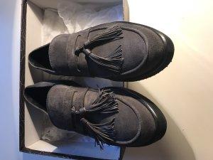 Homers Schuhe Halbschuhe Grau Leder Gr. 39,5 Neu NP 259€