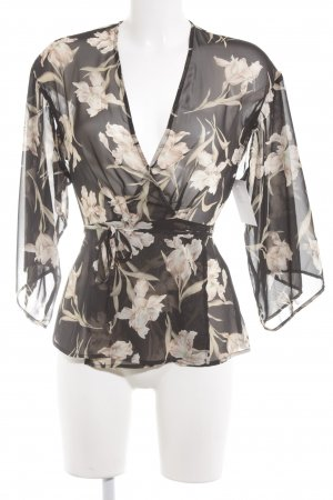 Honey Punch Blusa cruzada estampado floral look casual