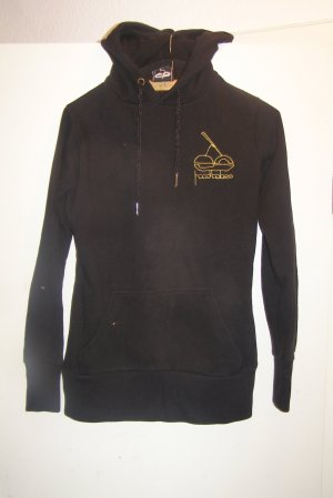 Maglione con cappuccio nero Cotone