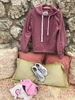 Jersey con capucha color rosa dorado