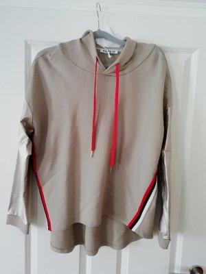 Blusa con capucha multicolor
