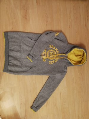 Jersey con capucha color plata-amarillo