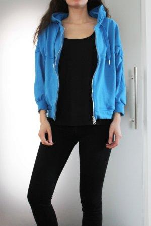 Adidas by Stella McCartney Veste sweat bleu fluo coton