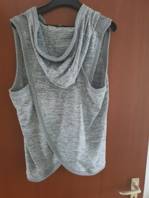 Hoody silver-colored-light grey