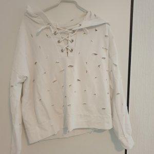 Camicia con cappuccio bianco