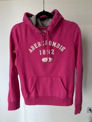 Hoodie Abercrombie and Fitch Pulli pink basic neon gemütlich S