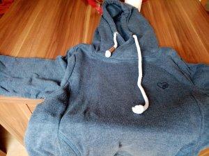 Maglione con cappuccio blu scuro