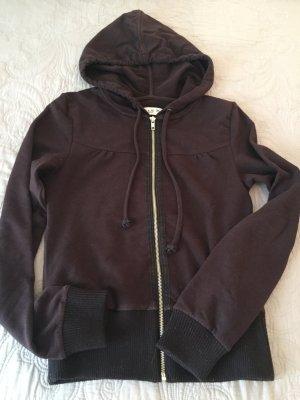 Conleys Jersey con capucha marrón-color plata