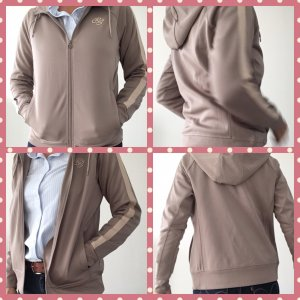 Jersey con capucha crema-blanco puro tejido mezclado
