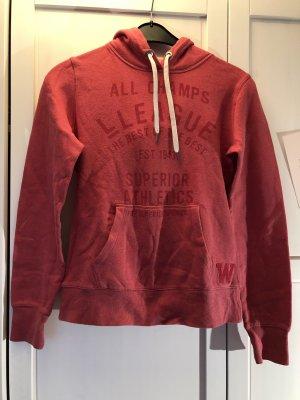 H&M Pull à capuche rouge clair