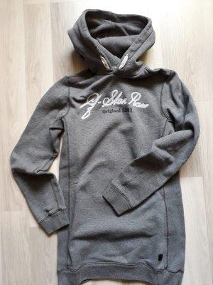 G-Star Sweatshirt met capuchon grijs-wit