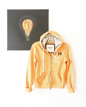 hoodie jacke / sweats / abercrombie & fitch / aprikose / orange