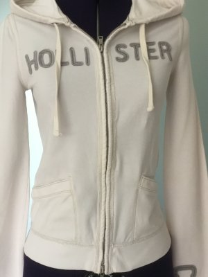 Hollister Hooded Sweater white cotton