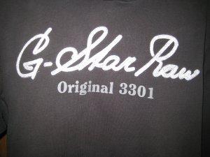 Gstar Sweatshirt met capuchon zwart-wit