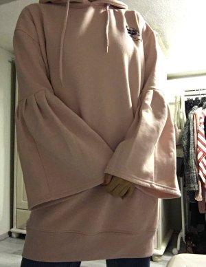 Hoodie Kleid, langer Pullover mit Kapuze