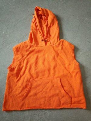 Maglione a maniche corte arancione