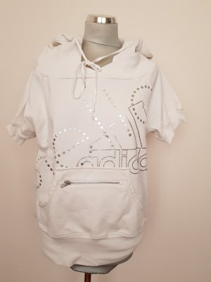 Adidas by Stella McCartney Sweatshirt met capuchon wit-zilver