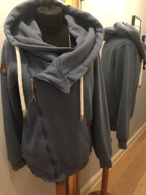 Giacca-camicia azzurro-grigio