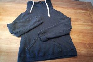 Hoodie, Pullover in blau mit Schalkragen von Campus in Größe XL