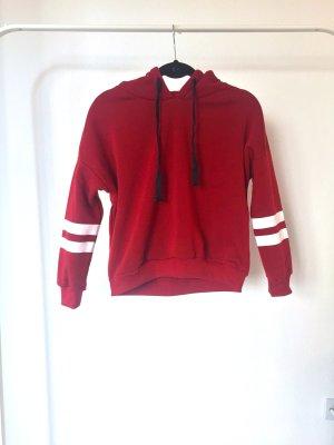 Hoodie ROMWE rot streifen sportlich sweater pulli chill NEU