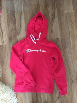 Champion Hooded Sweater white-red