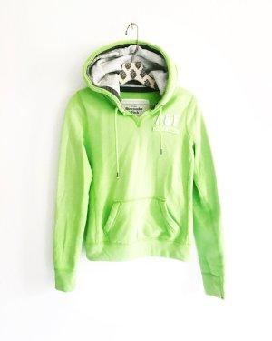 hoodie / sweater / abercrombie & fitch / apfelgruen / neon gruen
