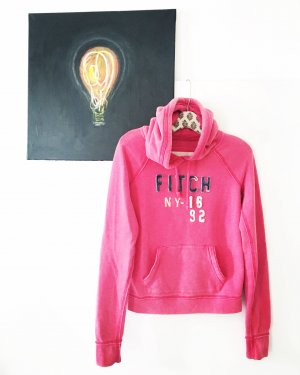 hoodie / sweater / abercrombie & fitch / himbeere / pink / sweats / casual