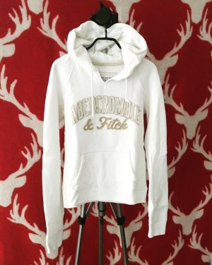 hoodie / sweater / abercrombie & fitch / oatmeal / creme / wollweiss