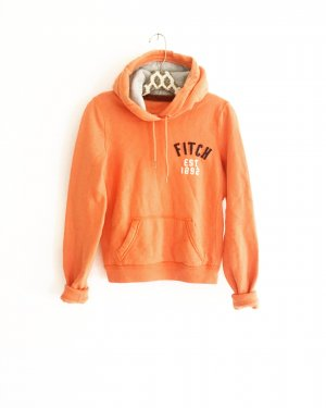 hoodie / sweater / abercrombie & fitch / orange / casual / sweats