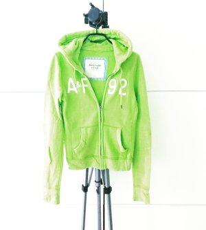 hoodie / sweater / jacke / abercrombie & fitch / apfelgrün / neongrün