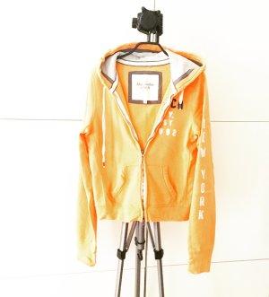 hoodie / sweater / jacke / orange / abercrombie & fitch