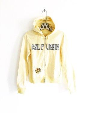 hoodie / sweater / jacke / vintage / california / boho / hellgelb / casual