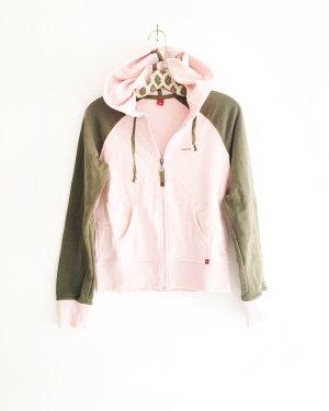hoodie / sweater / jacke / vintage / esprit / rosé / oliv / khaki / boho