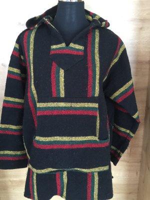 Hoodie Sweater Pullover Kapuze rasta baja Bob Marley schwarz rot grün Gr XL
