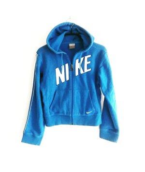 hoodie sweatjacke / blau / weisse streifen / nike