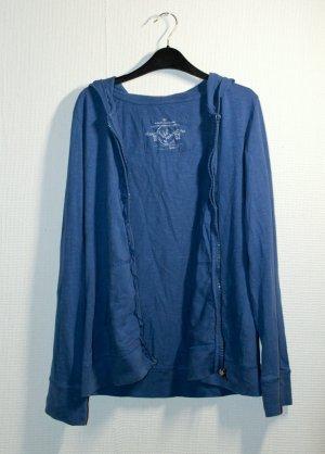 Hoodie / Sweatjacke / Zipper in blau von Tom Tailor Gr. M