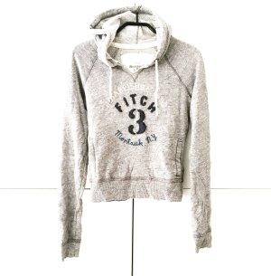 hoodie von A&F grau meliert