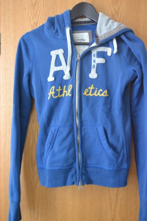 Abercrombie & Fitch Hooded Sweatshirt steel blue-blue cotton