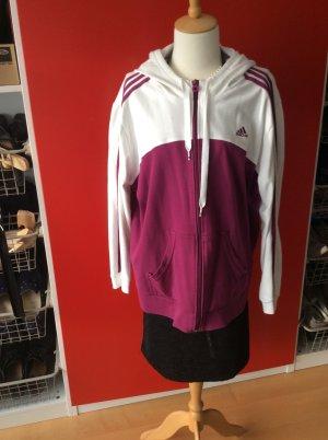 Hoodie von Adidas in Grösse 52, weiss-lila